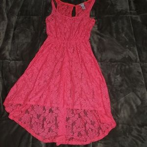 Neon pink slip style dress cover